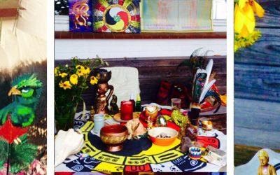 Impressionen von der Feier zur SonnenFinsternis in 13 CHUEN am Haus 9 AHAU